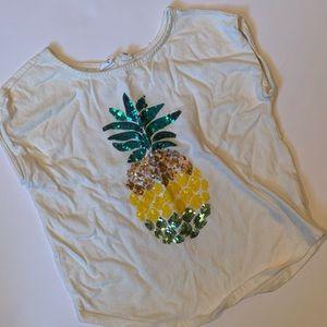 🕶 GapKids pineapple sequined shirt sz small